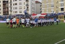 Pro Vercelli-Novara 0 a 0: qui l'ingresso delle squadre in campo