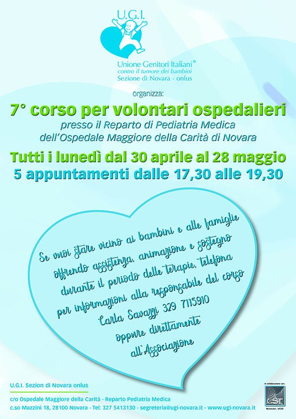 7° corso per volontari ospedalieri a Novara