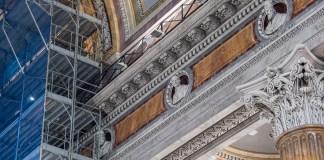 Duomo di Novara, smontata parte del ponteggio