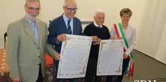 Da sinistra Pier Giorgio Varini, Luca Giovanella, Arialdo Catenazzi e Silvia Marchionini