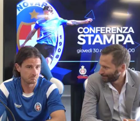 Presentazione di Daniele Cacia al Novara calcio