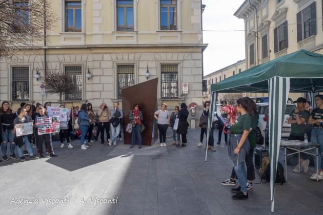 Manifestazione dei ragazzi a Novara per FridaysForFuture