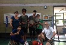 Alcuni ragazzi che hanno aderito al progetto insieme a Benny Padovani responsabile comunale Scuola e Giovani e Roberto Fava Presidente GIOKO ASD.