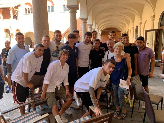 Novara calcio al Broletto incontra i tifosi