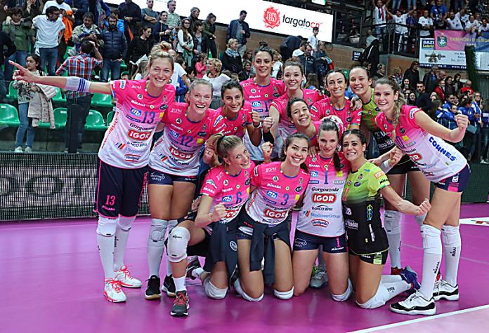 Vittoria per 3 a 1 per l'Igor Volley Novara a Cuneo all'esordio in campionato