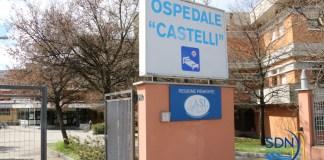 L'ingresso dell'ospedale Castelli a Verbania