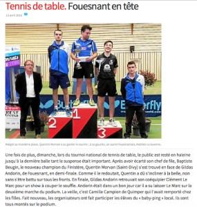 tournoi 2016 - podium