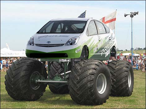 Image result for rolling coal prius