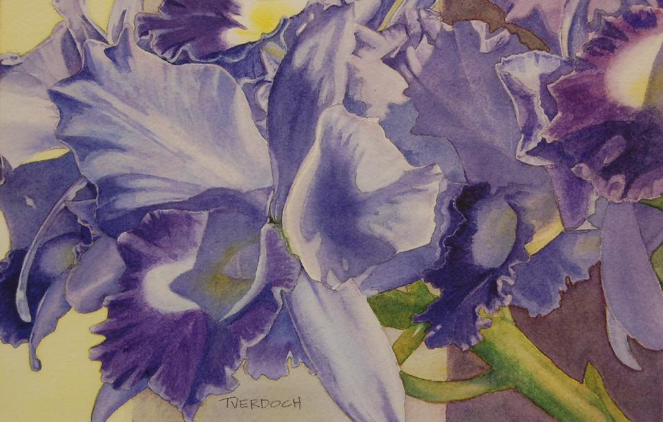 Best of Miniatures - A Profusion of Purple Petals by Denise Tverdoch