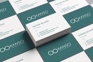Kanso Recruitment SDX Creative Business Card Design