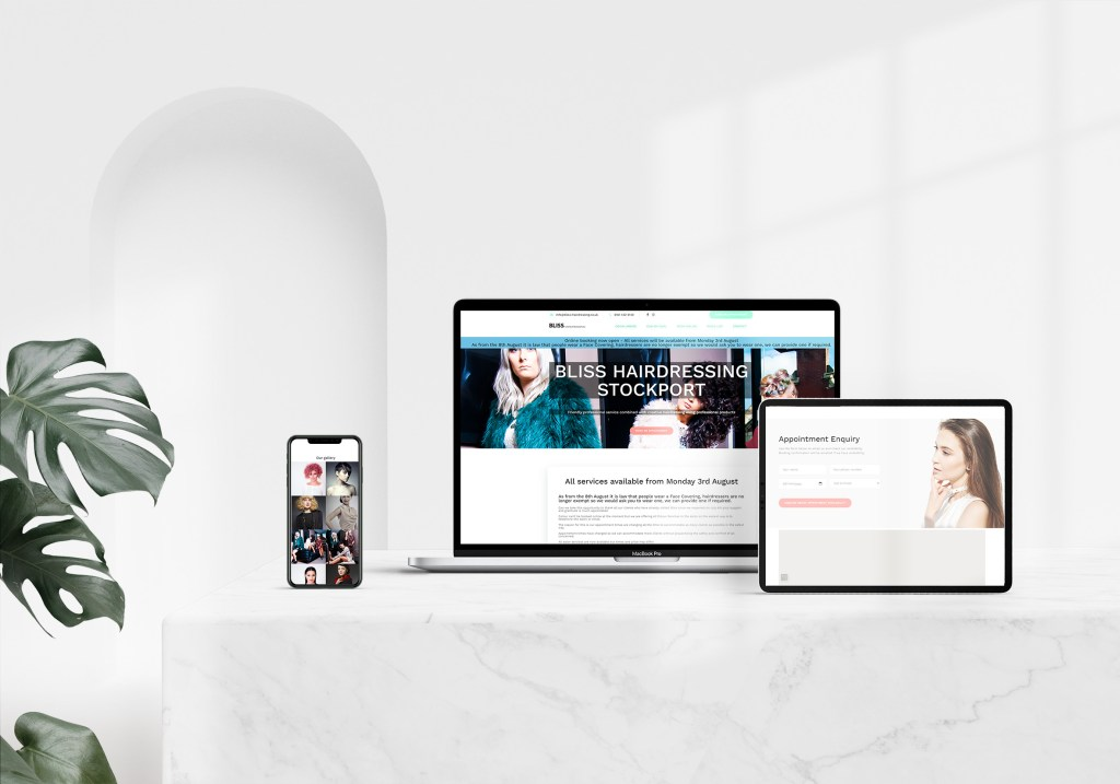 New Bliss Hairdressing Website