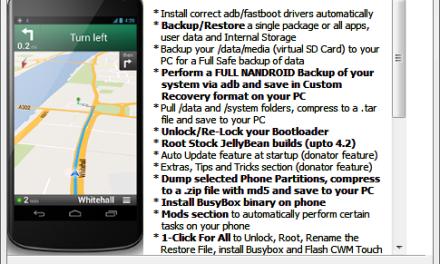 وصول Nexus 4 Toolkit، لعمل روت أو فتح البوت لودر والنسخ الاحتياطي و غيرها