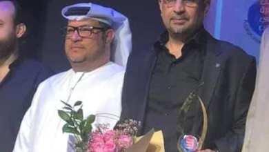 """صورة """"هاني أبو مصطفى """"مكرما في مهرجان الفجيرة الدولي وفوز مميز"""