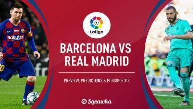 صورة التشكيل المتوقع لبرشلونة وريال مدريد في كلاسيكو اليوم