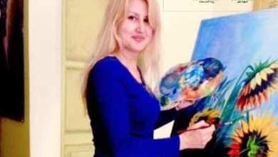 """صورة """"عبير عيسى اسبر""""فنانة تشكيلية فخورة بانتشار لوحاتها في أرجاء العالم"""