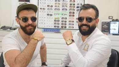 صورة هذا ماجمع الإعلامي حيدر أحمد والسيد عمار الملا في أوركيدا للنظارات في دمشق