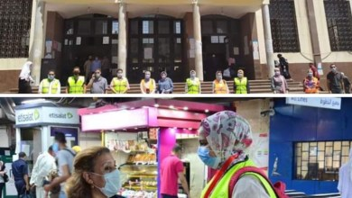 صورة 300 شاب وفتاة يشاركون في اليوم الأول من فعاليات الحملة القومية للتوعية بفيروس كورونا بمحطات المترو والسكك الحديدية