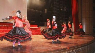 صورة فرقة أجيال للمسرح الراقص تقدم عرضها بعنوان السندباد على مسرح قصر الثقافة في دير عطية