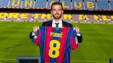 صورة بيانيتش سعيد باللعب إلى جوار ميسي في برشلونة
