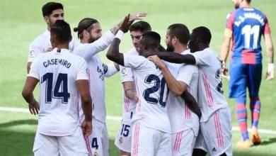 صورة ريال مدريد يتصدر الليجا الأسباني.