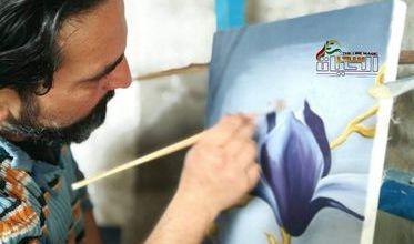 """صورة النحات والرسام""""محمد علي محمد"""" النحتُ على الحجر الأصم ينعشهُ ويبثُ فيه روحاً"""