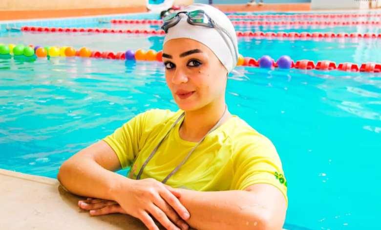 """سمر الخولي""""المرأة الوحيدة في الشرق الأوسط في مجال سباحة الرضع"""