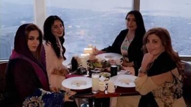 صورة مصممة الأزياء عائشة الشامسي تحتفل بعيد ميلادها في برج خليفة