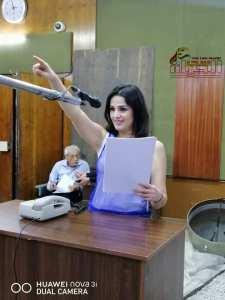 """مجد نعيم"""" ليس للإذاعة مردود مادي لكن حبي لها يجعلني دائما متواجدة فيها"""