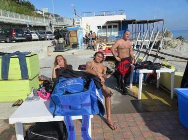 Preparazione prima dell'immersione