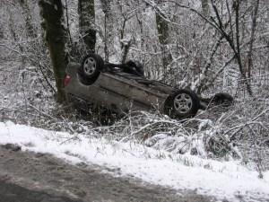car-ditch-snow