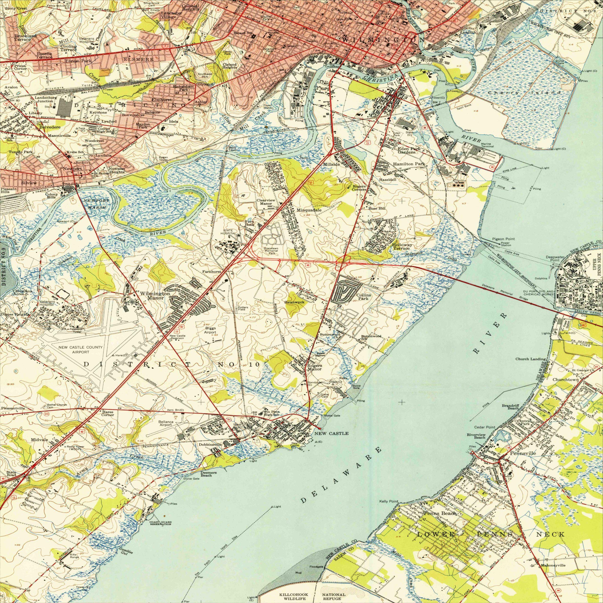 1948 Wilmington, DE and surroundings