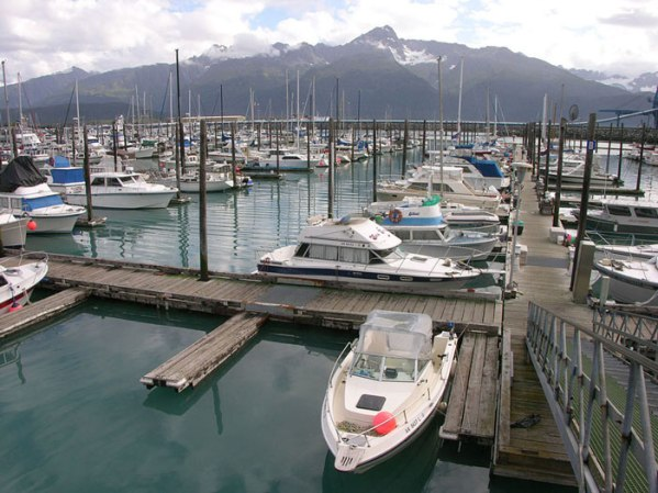 Docks in Seward, Alaska