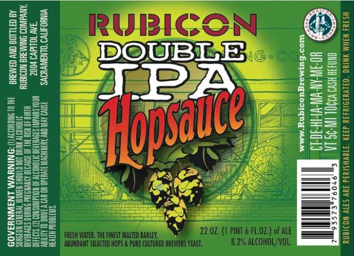 Rubicon Double IPA Hopsauce