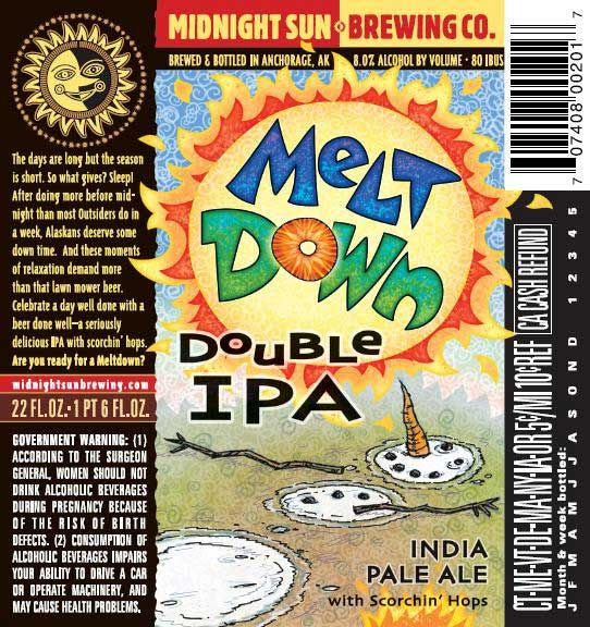 Melt Down Double IPA India Pale Ale