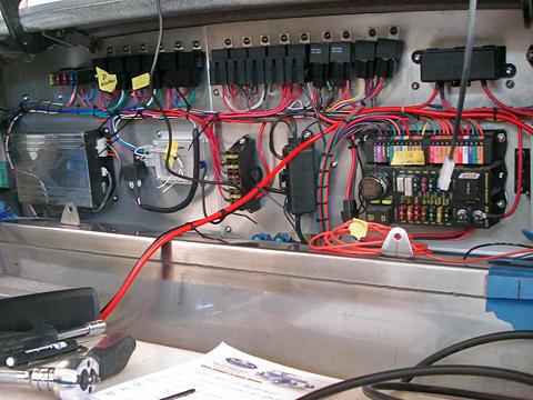 Bulkhead wiring panel
