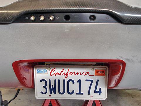 CA plate in car