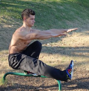 a man exercising