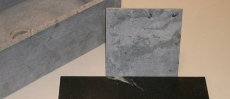 Soapstone Tile for the Kitchen  Fireplace  and Floor   NH  MA  ME Soapstone tiles can be used for your fireplace surround