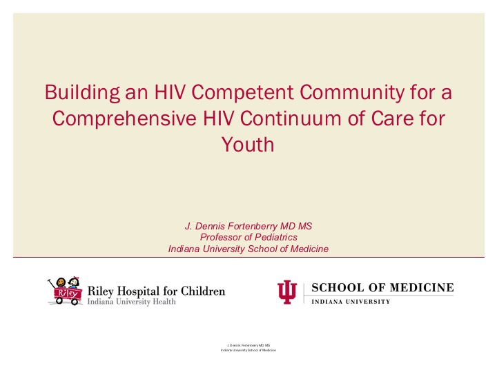 Webinar: Building an HIV Competent Community for a Comprehensive HIV Continuum of Care for Youth
