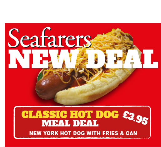 Seafarers Hot Dog Deal
