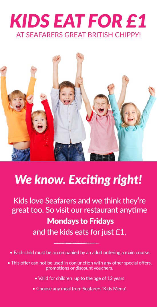 Kids eat for £1 at Seafarers Restaurant Lytham St Annes