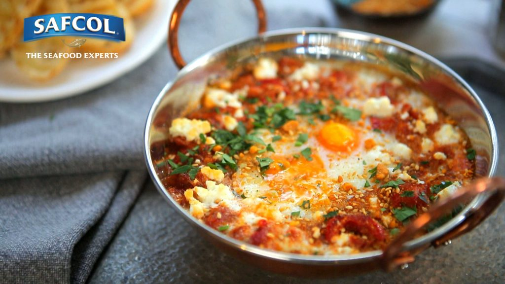 Smoky tuna egg shakshuka