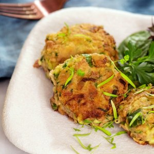 Tuna zucchini patties image
