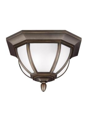 7836302 71 Two Light Outdoor Ceiling Flush Mount Antique Bronze