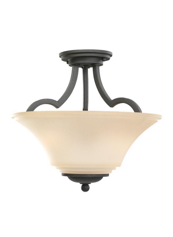 77375-839,Two Light Semi-Flush Convertible Pendant ,Blacksmith