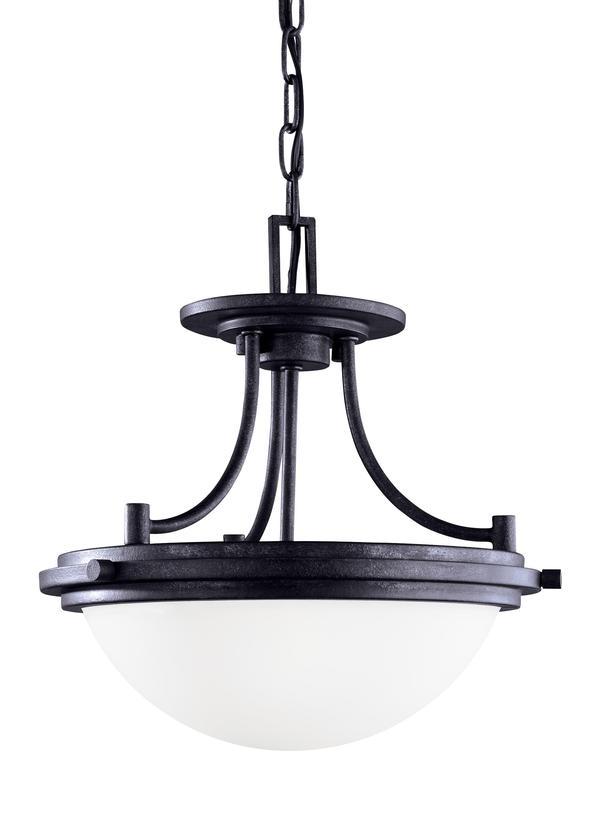 77660-839,Two Light Semi-Flush Convertible Pendant,Blacksmith
