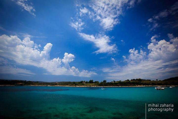 Panoramic view of Diaporos island