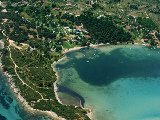 Aerial photo of Vourvourou bay