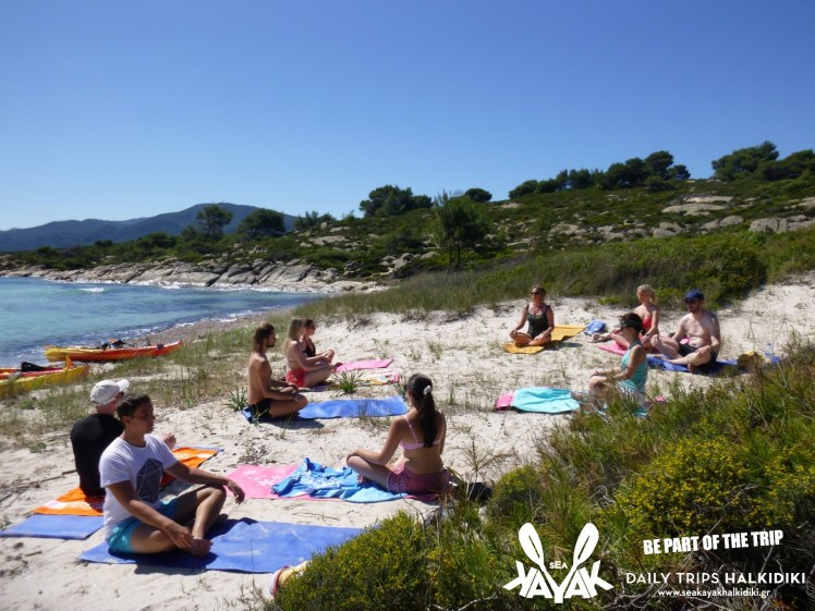 best destination for holiday activities-Sea Kayak Halkidiki yoga kayak tours