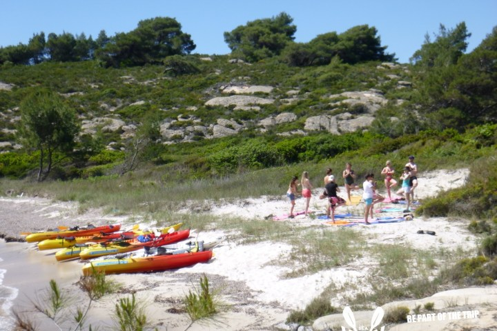 Sea Kayak Halkidiki yoga kayak tours